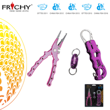 X85 Fishing Tools Combo Aluminium Fish Lip Grip and with Aluminium Fishing Pliers and Magnetic Connector